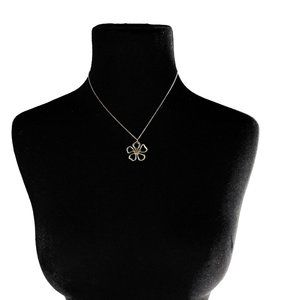 Tiffany and Co. Sterling Clover Pendant Necklace